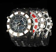 New fashion men's business double movement movement waterproof anti fall large dial watches LCD BWL812