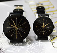 Couple's New Round Explosion Models Gear Graphic Design Diamond Dial Leather Strap Fashion Business Quartz Watch Cool Watches Unique Watches