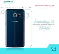 NILLKIN Amazing H Nanometer Anti-Explosion Tempered Glass Back Cover Screen Protector Film for Galaxy S6 Edge