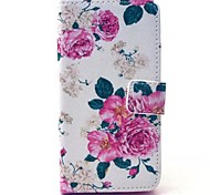 Roses Pattern PU Leather Case with Stand for Samsung Galaxy A3