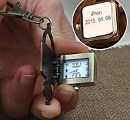 bloqueio liga personalizado dom relógio em forma gravado fivela chave