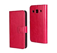 Solid Color PU Leather Full Body Case with Stand and Card Slot for Samsung Galaxy A3 A3000(Assorted Color)