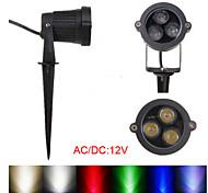 Fari 3 LED ad alta intesità Girevole 3 W 270-300 LM Bianco caldo/Luce fredda/Bianco/Colori primari/Rosso/Blu/Giallo/Verde 1 pezzoDC 12/AC