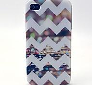 der strahlende Wellen-Muster-TPU weiche Tasche für iPhone 4 / 4S