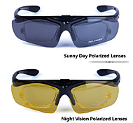 Polarized 2 Lenses Cycling Goggles Night Vision