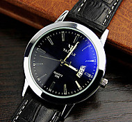 High-grade Leather Blue Ray Glass Business Quartz Watch Wrist Watch Cool Watch Unique Watch