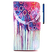 Ball Pattern PU Wallet Leather Case with Stand and Pen for Wiko Rainbow