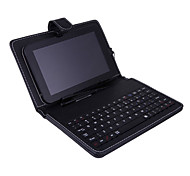 "8"" PU Leather Universal Stand Tablet Case with Keyboard + Micro USB Keyboard for 8 inch Android Tablet PC"