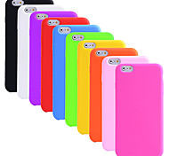 BIG D Silica Gel Fashion Soft Back Case for iPhone 6 Plus (Assorted Color)