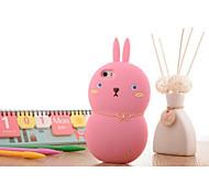 material de silicona estilo conejo sinvergüenza para el iphone 6
