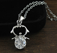 Zircon Fashion Short Pendant Necklace