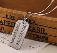 Eruner®Men necklace Series Wolverine 2 Vintage Pendant Necklace MAN necklace man jewelry