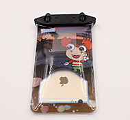 Universal 6 Inch Cartoon PVC Waterproof Phone Case 10 Meters Underwater Phone Bag Pouch Dry No.016 (All Models)