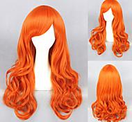 65cm Einteiler-nami (2 Jahre später) Orange locken cosplay Perücken