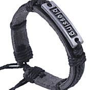 2015 Fashion Leather Blessing Bracelet