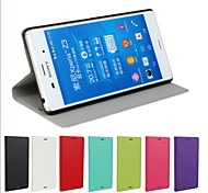 PU Leather Magnetic Ultra-thin Flip Cover Wallet Card Slot Case Stand Skin Cover for Sony Xperia Z3 (Assorted Colors)