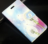Dandelion PU Leather Full Body Wallet Protective Case with Stand and Card Slot For Huawei Ascend G6