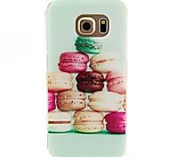 Hamburger Pattern TPU Soft Case for Samsung Galaxy S6 edge