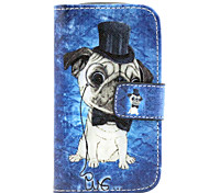 Dog  Pattern PU Leather Case with Magnetic Snap and Card Slot for Samsung S3 Mini I8190N