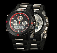 New fashion men's business double movement movement waterproof anti fall large dial watches LCD BWL22