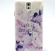 coco Fun® Leben ist schön Muster weichen tpu Fall für Samsung Note 3 / Anmerkung 4