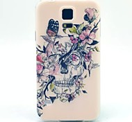 For Samsung Galaxy Case Pattern Case Back Cover Case Skull TPU Samsung S5 Mini