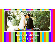 Business Cards 200pcs Save the Date Cards Colorful Photo Pattern 1 Sided Printing of Fine Art Filmed Paper