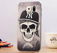 For Samsung Galaxy Case Pattern Case Back Cover Case Skull TPU Samsung S6