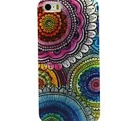 Coco fun® floral padrão tribal TPU macio imd tampa traseira caso para iphone 5 / 5s
