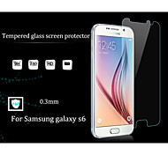 HUYSHE 0.33mm 2.5D Round 9H Damage Protection Anti-Scratch Tempered Glass Screen Protector for Samsung Galaxy S6