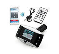 "1.5"" LCD Car Kit MP3 Player Bluetooth FM Transmitter Remote Control USB SD MMC Slot"