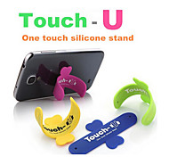 Mobile Phone Smartphone Touch U Type Silicone Stand Holder for iPhone for Samsung