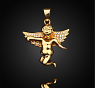 Vilam® Figaro Baby Angel Cupid Rhinestone 18K Gold Plated CC Color Uneasy Fade Pendant 1pc