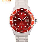 InTimes IT-057 Men Wrist Watch 44mm Plastic Case Silicone Bracelet 50M Waterproof