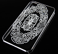 Retro Pattern Transparent Back Case for iPhone4/4S