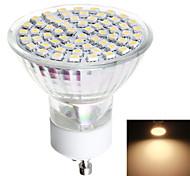 1 Stück LED Spot Lampen GU10 3W 570 LM 3000/6000 K 1 SMD 3528 Warmes Weiß / Natürliches Weiß AC 220-240 V