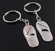 Unisex Alloy Keychain Slipper Valentine's Day Key Chains 1 Pair