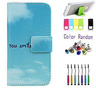 Your Smile Pattern Full Body Case with Stylus ,Anti-Dust Plug and Stand for iPhone 6 Plus