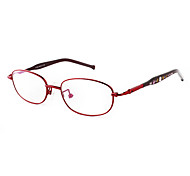 [Free Lenses] Metal Oval Full-Rim Fashion Prescription Eyeglasses
