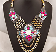European Style Fashion Metal Geometric Bright Metal Chain Temperament Necklace