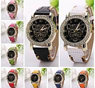 moda de luxo relógio de pulso de quartzo relógios pu couro relógio de senhora relógio de moda casual