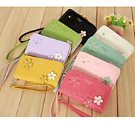 Shining Floret Wrist Strap Patent Leather PU Leather Mobile Phone Bag for iPhone 4G/4S/5S/5C/6 (Assorted Colors)