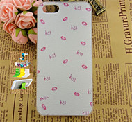 Small Lips Pattern Striae PC Protective Shell And Dust Plug Bracket Assembly for iPhone 5/5S