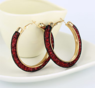 Hoop Earrings Rhinestone Simulated Diamond Alloy Star Brown Red Pink Dark Red Light Blue Jewelry Party Daily Casual 2pcs