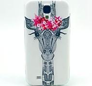 la jirafa modelar TPU suave para mini i9190 Samsung Galaxy S4