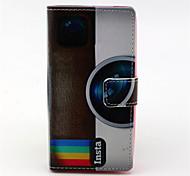 рисунок радуга камера PU кожаный чехол с магнитной оснастки и слотом для карт Nokia Lumia 630