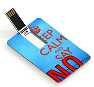 4GB Keep Calm and Say No Design Card USB Flash Drive
