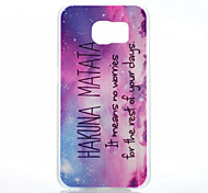 Purple Star Pattern Transparent Frosted PC Material Phone Case for Samsung Galaxy S6
