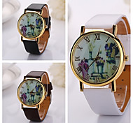 New Arrival 3colors PU Leather Strap Women Fashion Wrist Watch Flower Style Roman Numerals  Watch