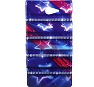 Purple Star Pattern Soft TPU Case for Sony Xperia M2